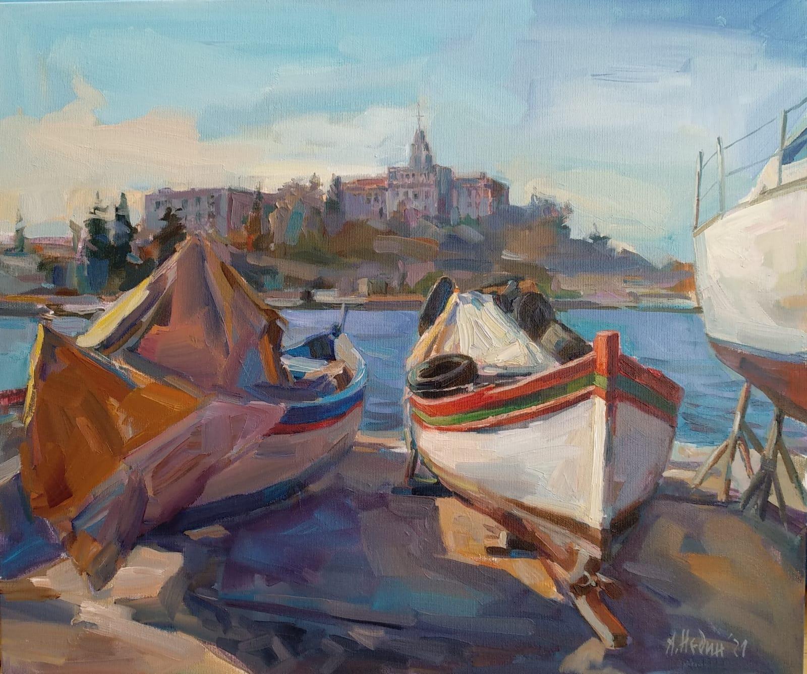 """Pier"" Painting Angelina Nedin 2021"