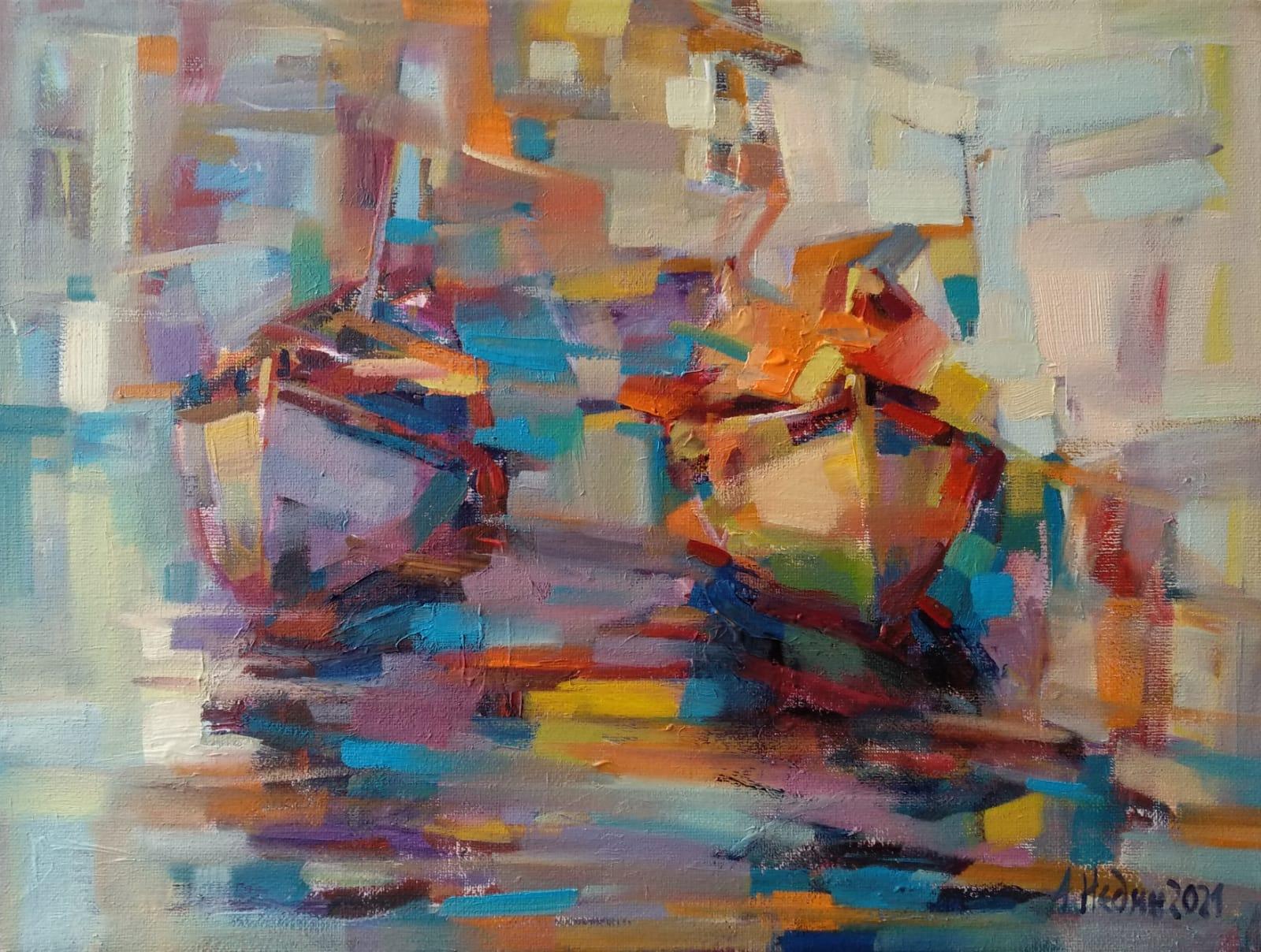 """Reflections ""Painting Angelina Nedin 2021"