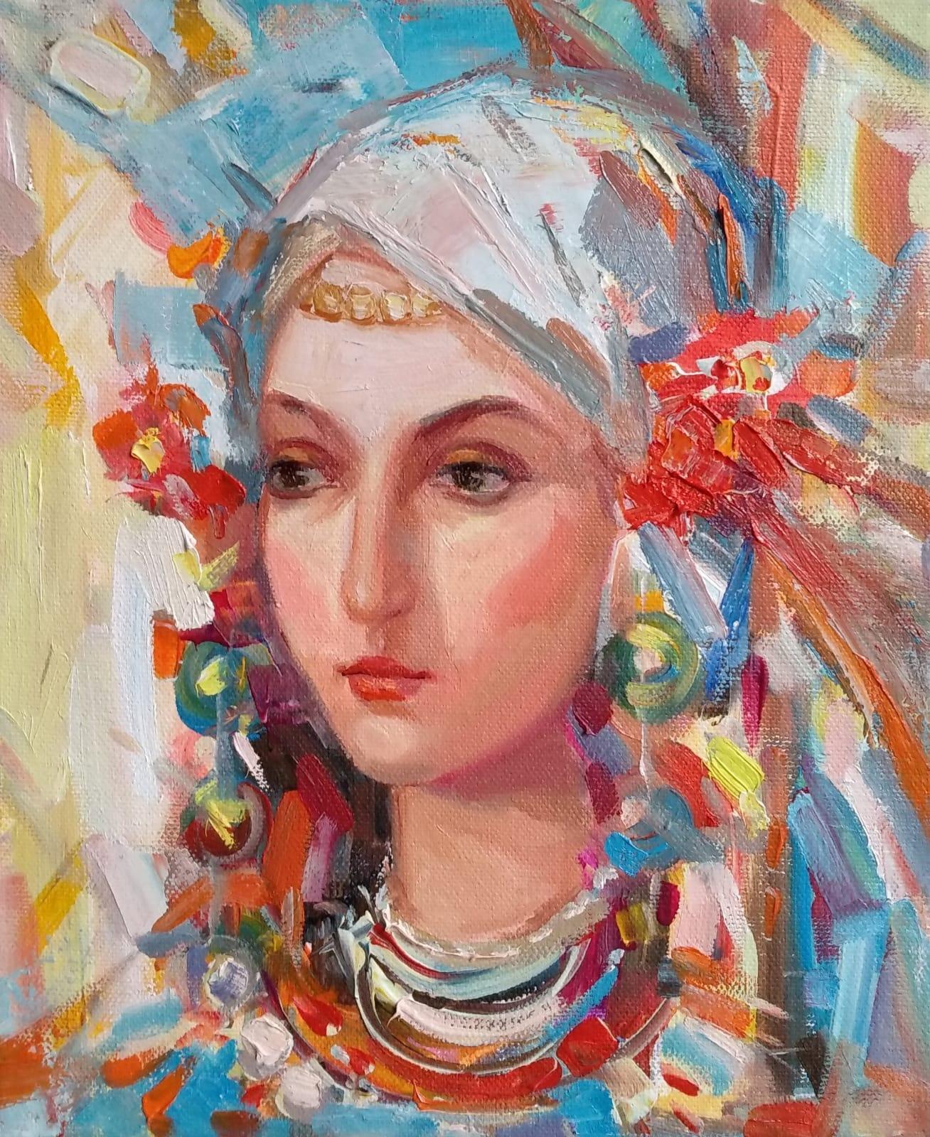 """Spring Girl"" Painting Angelina Nedin 2021"