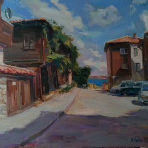 """The Old Sozopol"" Painting Angelina Nedin 2021"