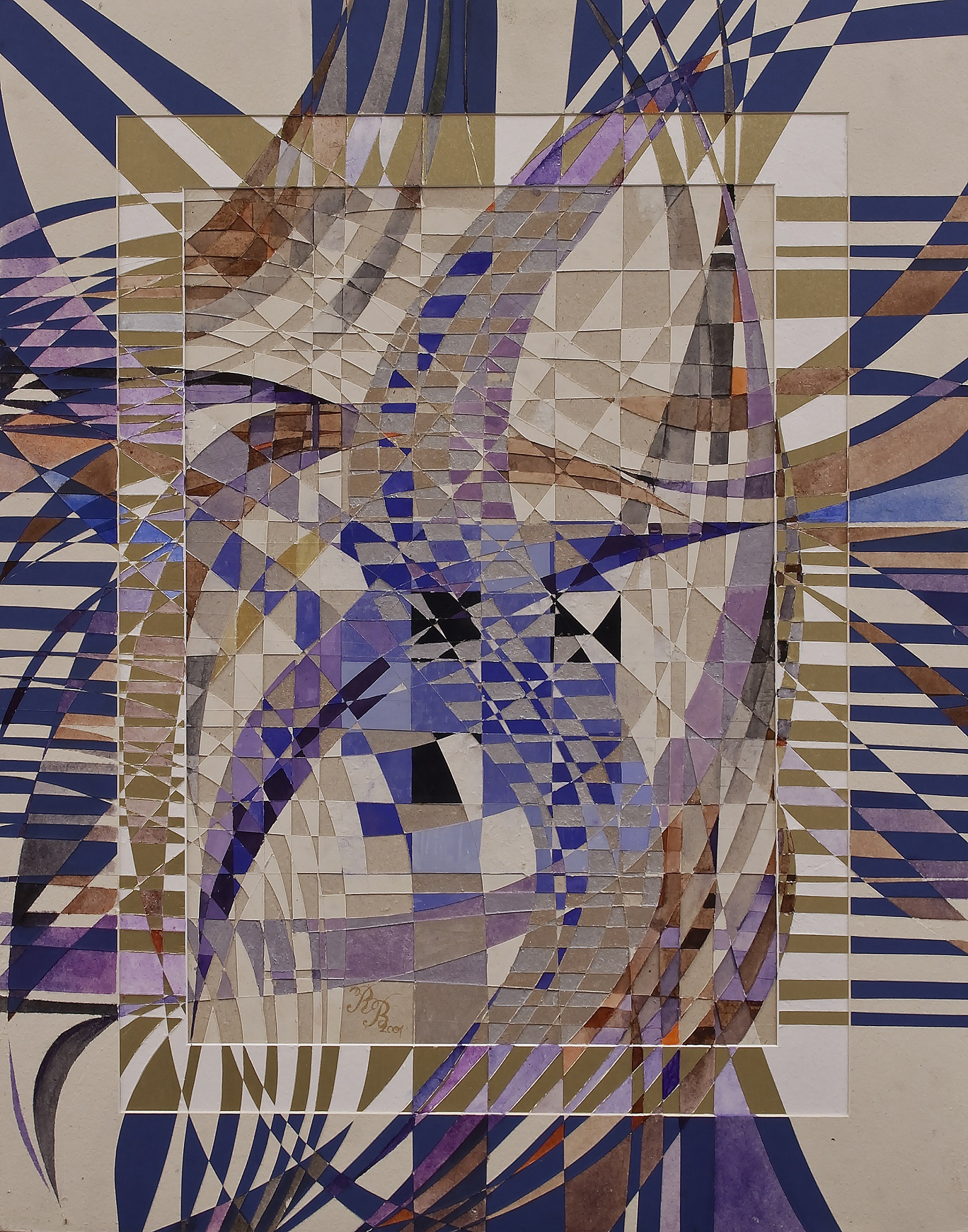 """Cage for Birds"" Rumyanka Bozhkova Drawing Engraving on Multilayer Cardboard"