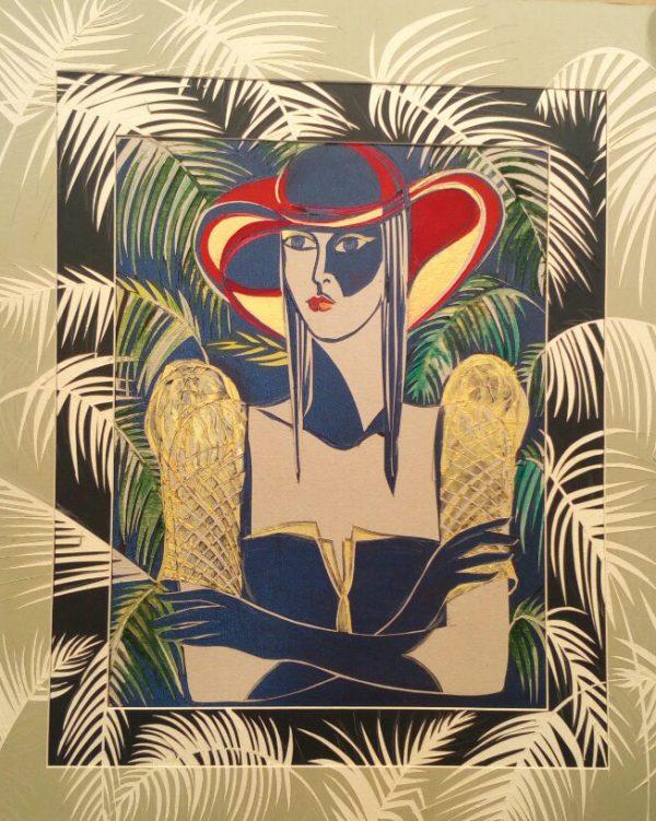 """""""White Ferns""""Rumyanka Bozhkova Thematic Painting"""