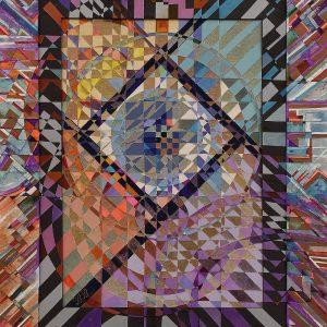 """Geometric Moods"" Rumyanka Bozhkova Drawing Engraving on Multilayer Cardboard"
