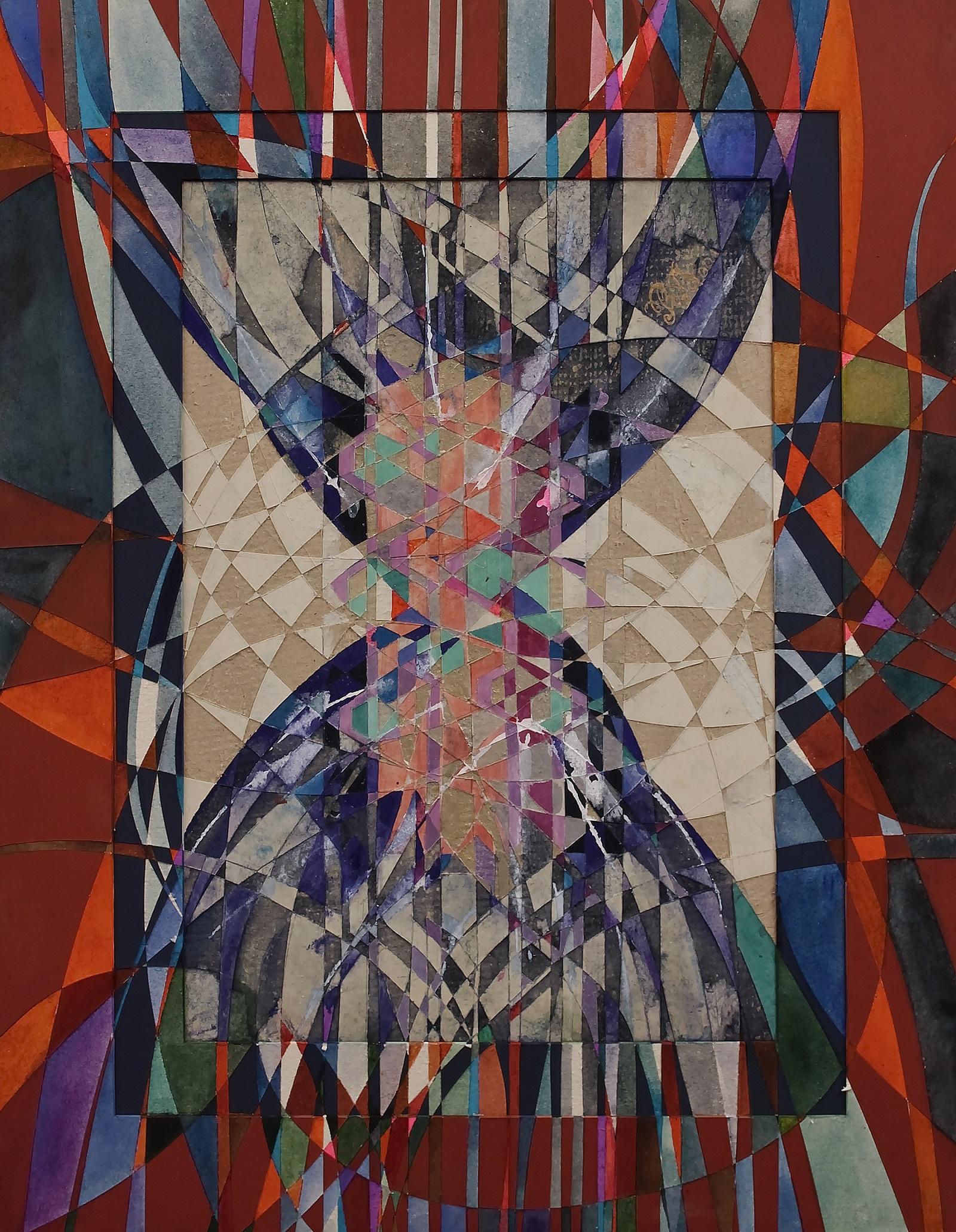 """Hourglass"" Rumyanka Bozhkova Drawing Engraving on Multilayer Cardboard"