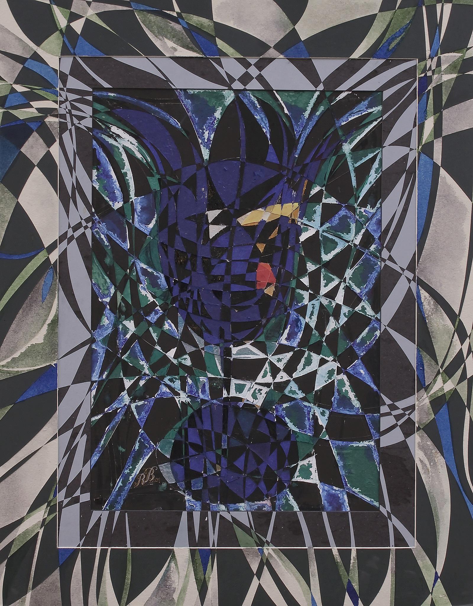 """My evening glass"" Rumyanka Bozhkova Drawing Engraving on Multilayer Cardboard"