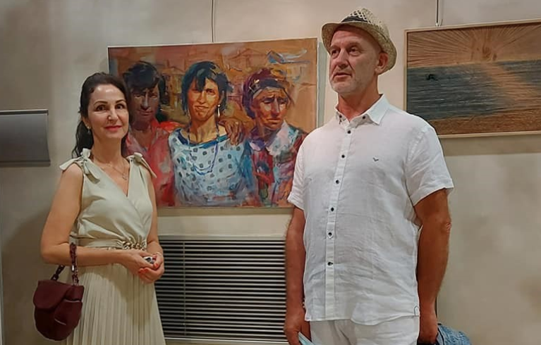 """Angelina Nedin Painting """"Friends"""" and was awarded third place - a bronze medal for painting Vittal France 2021"""