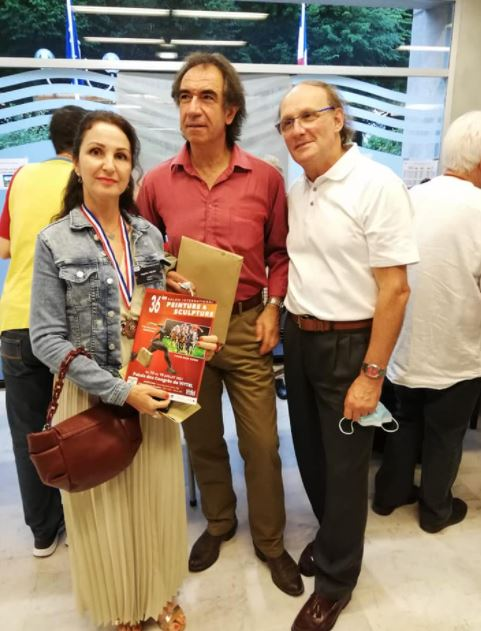 Angelina Nedinwas awarded third place - a bronze medal for painting Vittal France 2021