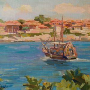 """Summer Day"" Painting Seascape Angelina Nedin 2021"